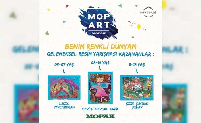 MOPART resim yarışmasının kazananları belli oldu