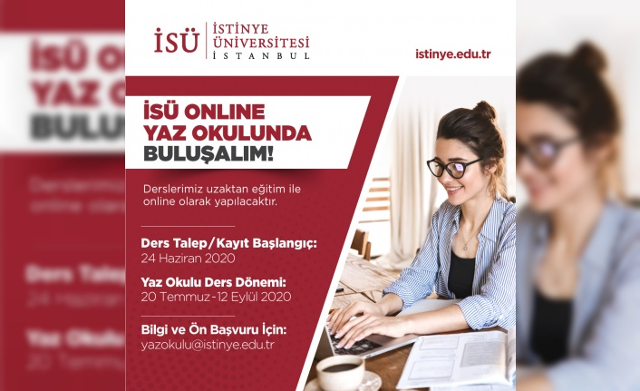 """İSÜ'den, """"Online Yaz Okulu"""" Fırsatı"""