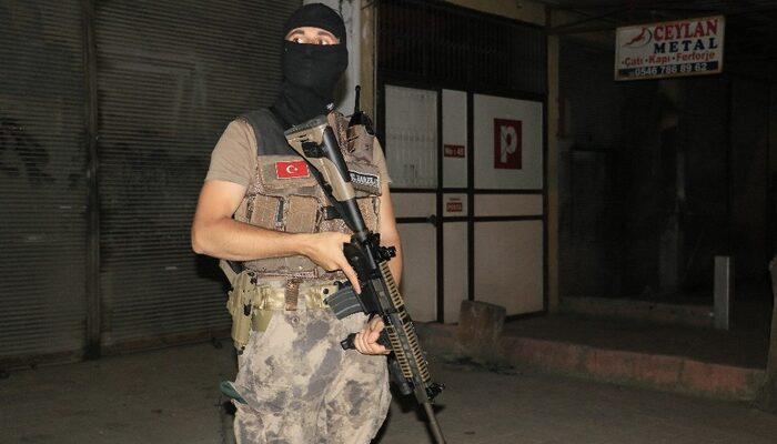 Adana'da 270 polisle narkotik uygulaması