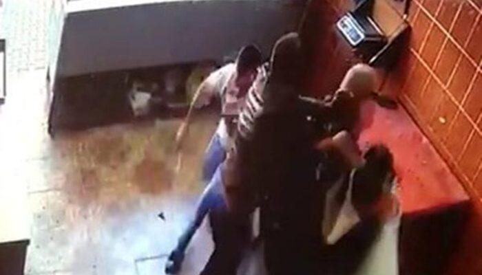 Adana'da bıçaklı cinayet anı saniye saniye kamerada