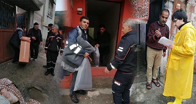 AFAD'dan sel mağdurlarına yatak ve battaniye yardımı