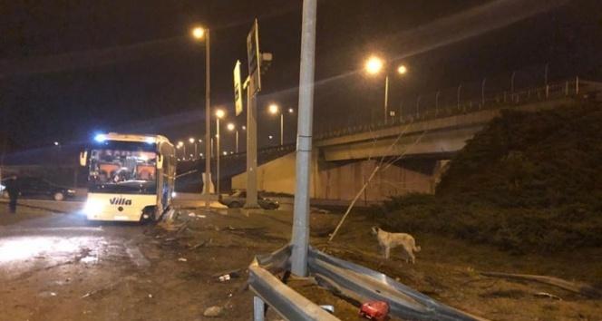 Ankara'da iki ayrı otobüs kazası: 1'i ağır 11 yaralı