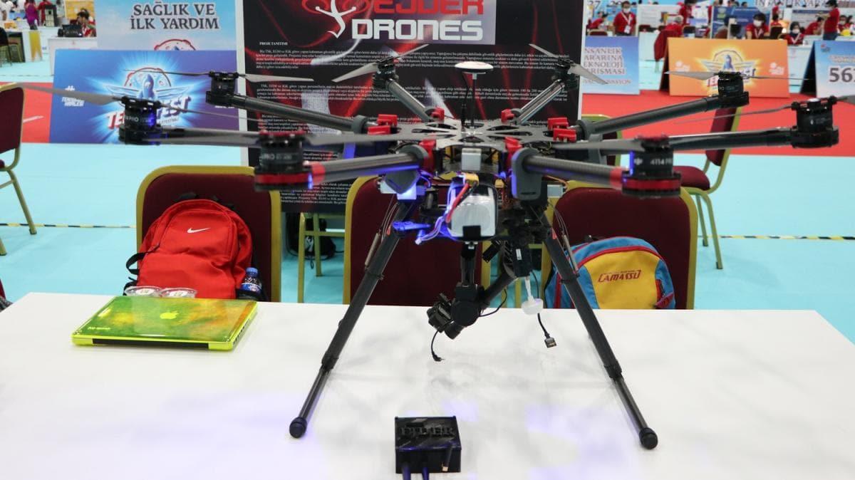 Asker çocuğu iki kardeş, mayını havadan belirleyip imha edecek drone yaptı