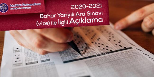ATA AÖF sınavı takvimi 2021… ATA AÖF vize sınavları ne zaman, online mı?