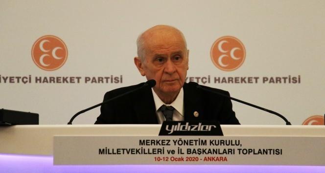 Bahçeli: 'Atatürk'ten uzaklaşmış HDP ile kucaklaşmış bir CHP'linin hiçbir teklifi ile iş birliği yapma niyetimiz yoktur'
