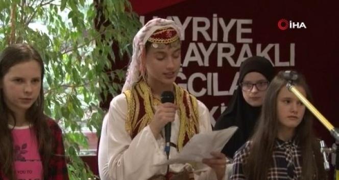Boşnak öğrenciden duygulandıran İstiklal Marşı okuması