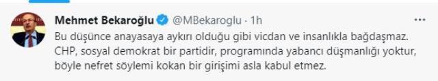 CHP'de mülteci çatlağı! Mehmet Bekaroğlu, partinin ideolojisini hatırlatarak, Tanju Özcan'a yüklendi