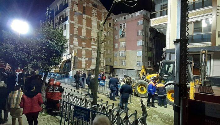 Çöken binanın enkaz kaldırma çalışmaları tamamlandı