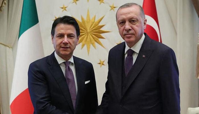 Cumhurbaşkanı Erdoğan, İtalya Başbakanı Conte arasında koronavirüs görüşmesi