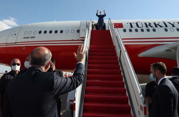 Cumhurbaşkanı Erdoğan, KKTC'den ayrıldı