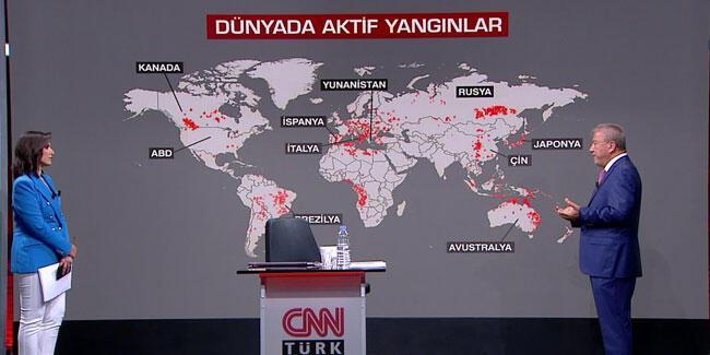 Dünyada yangınlar neden arttı? Prof. Dr. Şen, CNN TÜRK'te anlattı
