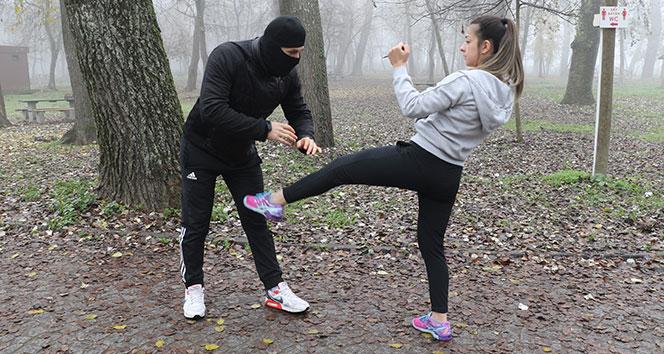 Edirne'de kadınlara 'kendini koruma' eğitimi