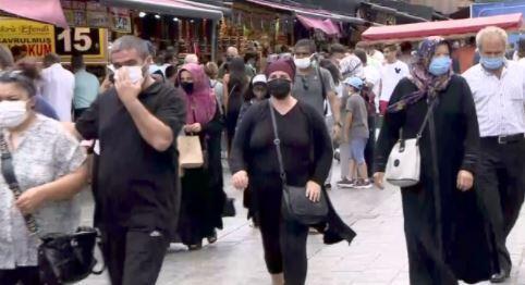 Eminönü'nde bayram yoğunluğu devam ediyor