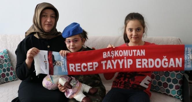 Epilepsi hastası minik İkra'nın Cumhurbaşkanı Erdoğan sevgisi