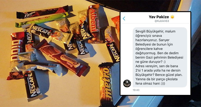 Genç kızın çikolata talebine belediye cevap verdi