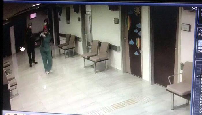 Hasta yakını olayı şaşkınlık içinde izledi! İki doktor birbirine girdi