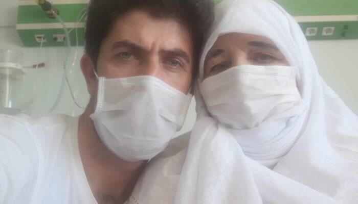 Hastanede tedavi görürken, oğluyla koronavirüse yakalandı
