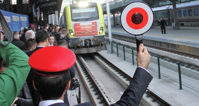 İhlas Haber Ajansı Çin'den Avrupa'ya giden yük treni Ankara'dan törenle uğurlandı