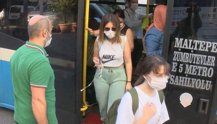 İstanbul'daki minibüslerde yine aynı manzara!