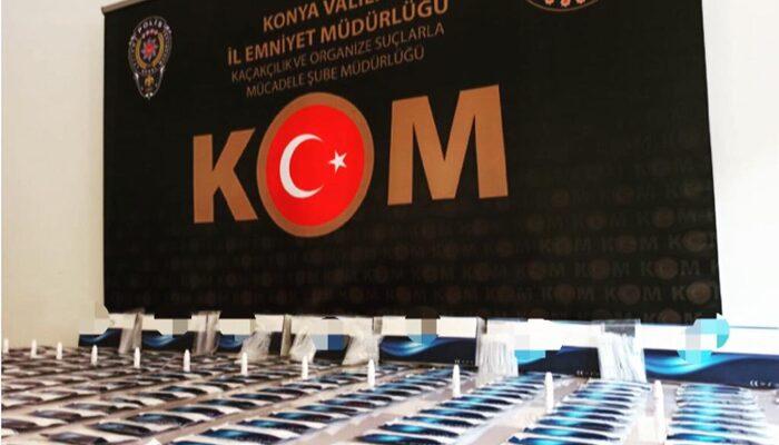 Konya'da yasa dışı yollarla getirilen 280 Kovid-19 test kitine el konuldu