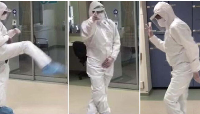 Koronavirüs hastası iyileşen doktor böyle görüntülendi!