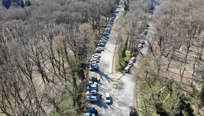 Koronavirüs uyarılarına aldırış etmeyen vatandaşlar Belgrad Ormanı'na akın etti