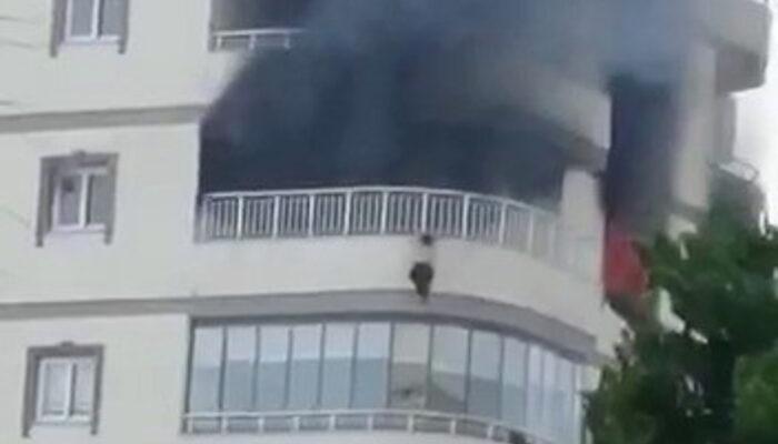 Mersin'de feci olay: Yangından korkan kadın 8. kattan aşağı düştü