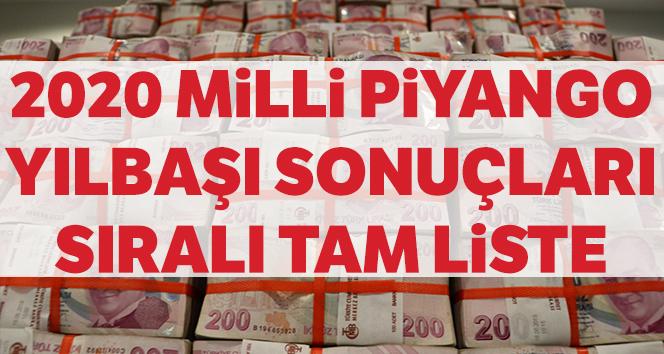 MİLLİ PİYANGO SIRALI TAM LİSTE SORGULAMA | 2020 Milli Piyango Sonuçları (MPİ) Kazandıran Numaralar...