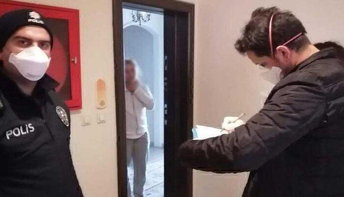 Polisler kapı kapı dolaşıp koronavirüs kontrolü yapıyor!