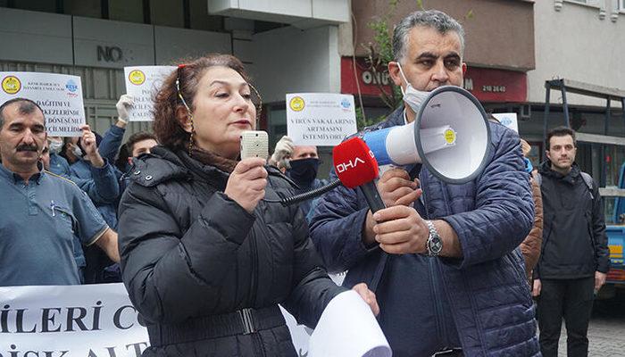 PTT çalışanlarından 'koronavirüs' eylemi
