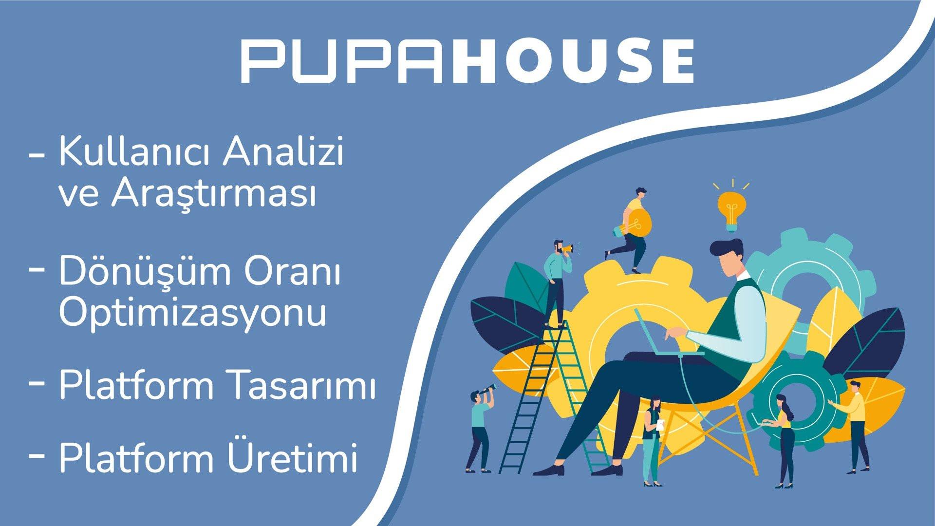 PupaHouse uzman ekibiyle Dijital İş Tasarımı hizmetlerini arttırdı