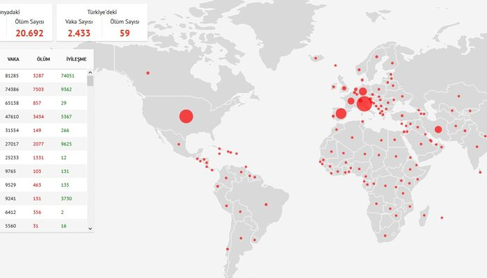 Sağlık Bakanlığı'nın dijital Koronavirüs haritası açıldı mı?