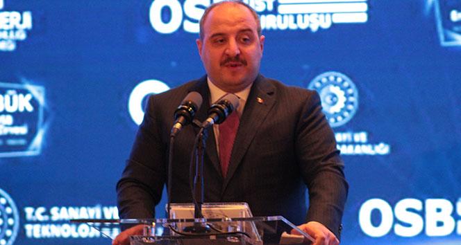 """Sanayi ve Teknoloji Bakanı Varank: """"7 ildeki 7 OSB'de pilot projemizi başlatıyoruz"""""""