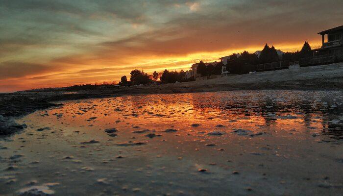 Silivri'de kartpostallık gün batımı