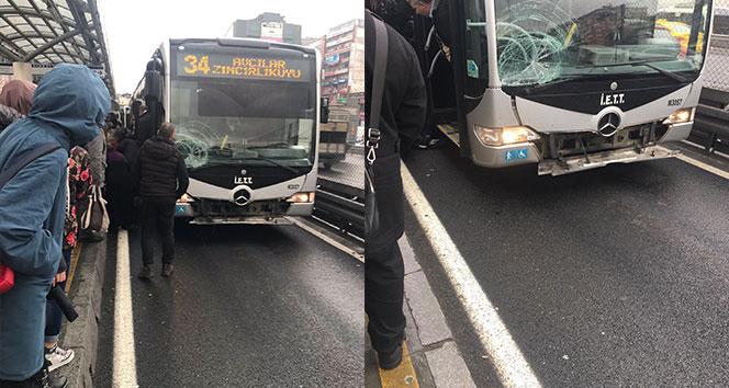 Şirinevler'de metrobüs yolcuya çaptı, 1 kadın yaralandı