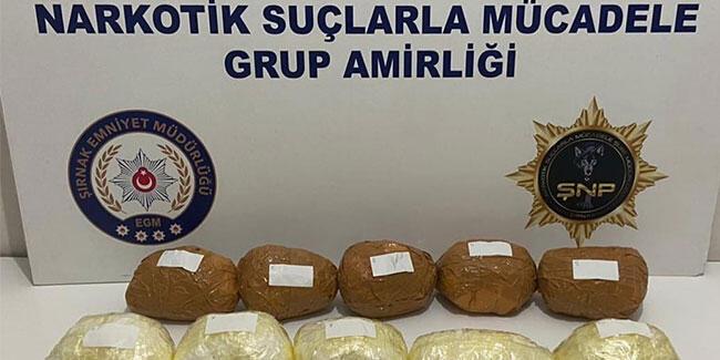 Şırnak'ta bir araçta 7 kilogram metamfetamin ele geçirildi