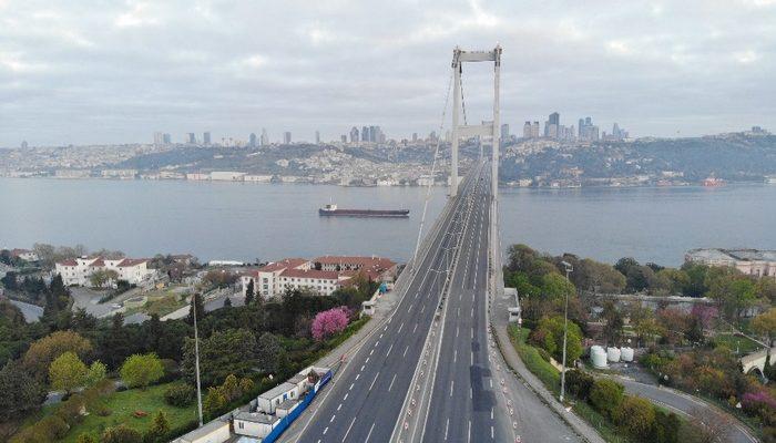 Sokağa çıkma kısıtlamasının üçüncü gününde İstanbul boş kaldı