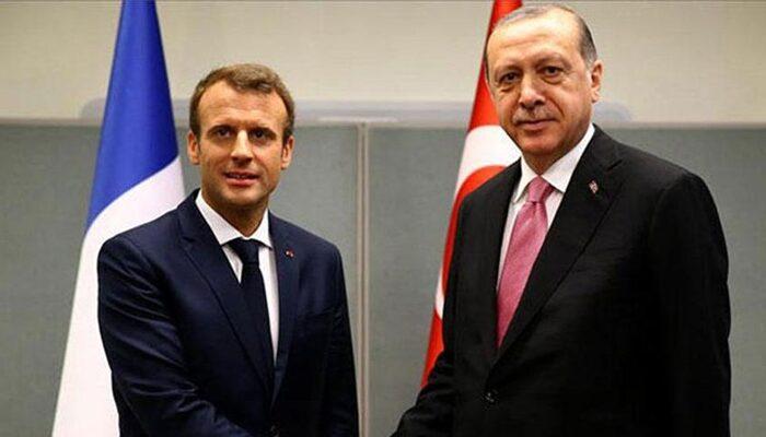 Son dakika! Cumhurbaşkanı Erdoğan, Macron ile görüştü