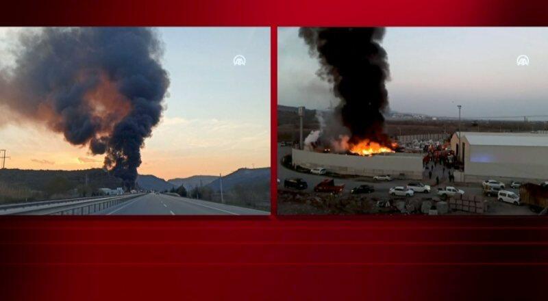 Son dakika haberi: Manisa'da fabrikada yangın!