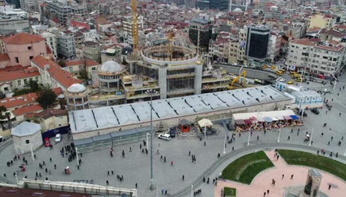 Taksim Meydanı ve İstiklal Caddesi'nde koronavirüs önlemleri artırıldı