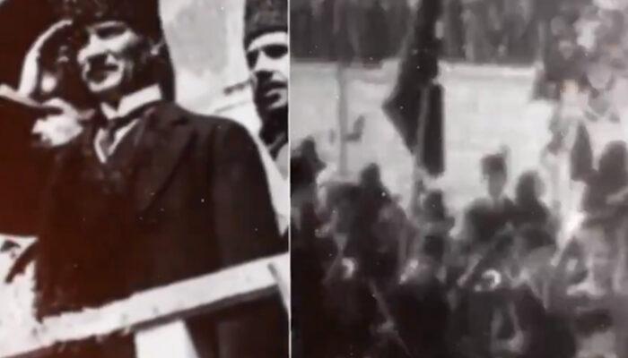 Tarihi görüntüler! MSB'den 23 Nisan videosu
