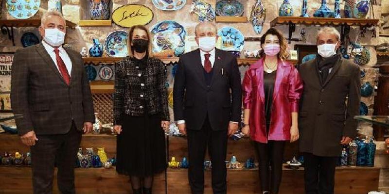 TBMM Başkanı Şentop'tan Kapadokya'ya ziyaret