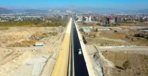 Isparta'nın yeni bulvarı asfaltlanıyor