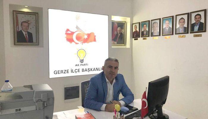 AK Parti Gerze İlçe Başkanı Vahdettin Özdemir istifa etti