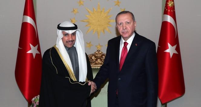 Cumhurbaşkanı Erdoğan, Kuveyt Ulusal Meclis Başkanı Marzuk Ali El Ganim'i kabul etti