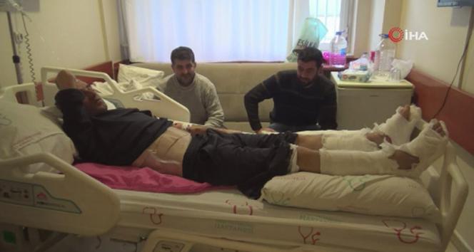 Depremden korktu 2'nci kattan atladı, bacaklarını ve belini kırdı