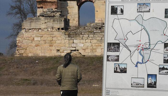 Edirne'de tarihi keşif heyecanı! Edirne Yeni Sarayı'nın giriş kapısının temeline ulaşıldı
