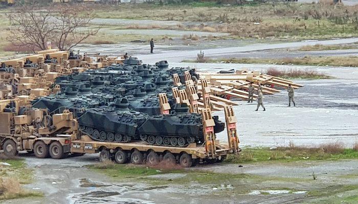span style=color:unsetİskenderuna trenle gelen askeri araçlar.../span