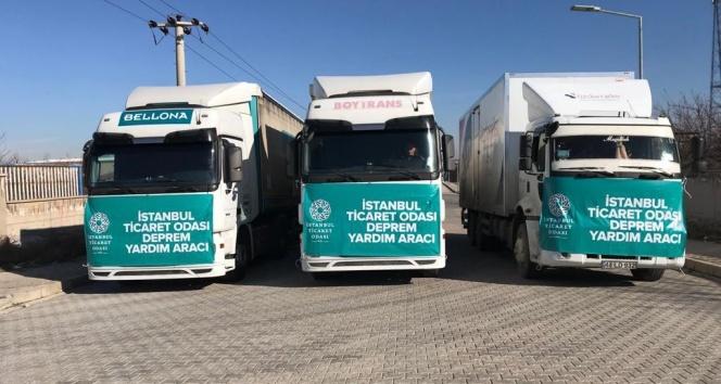 İstanbul Ticaret Odası'nın 20 tır temel ihtiyaç malzemesi Malatya'ya ulaştı