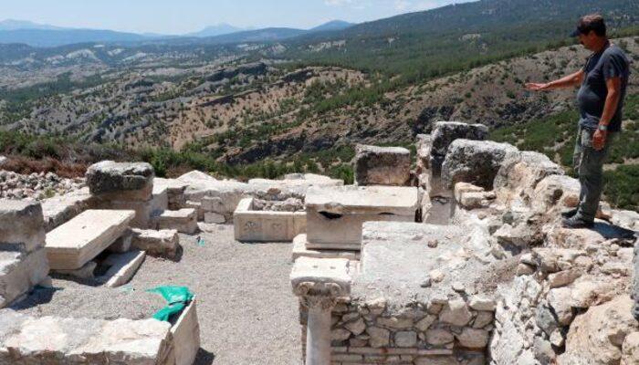 Kibyra Antik Kenti'nde bazilikal planlı kilise kalıntısı bulundu